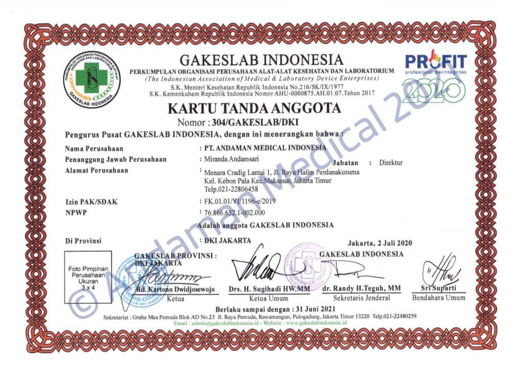 Andaman Medical Indonesia Gakeslab Membership