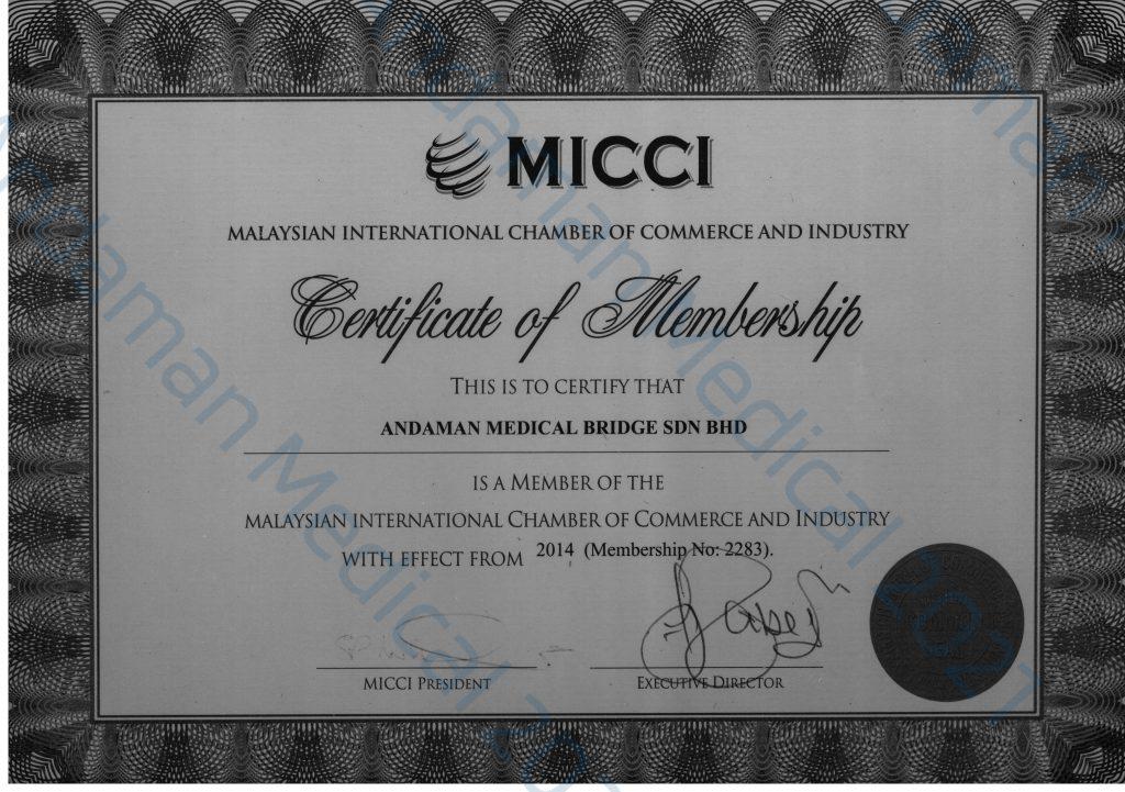 Andaman Medical Malaysia Membership Malay Chamber of Commerce