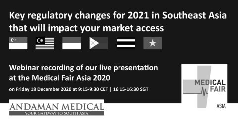 Key medical device regulatory changes in Southeast Asia for 2021 webinar